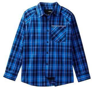 Hurley Raglan Long Sleeve Woven Top (Big Boys)