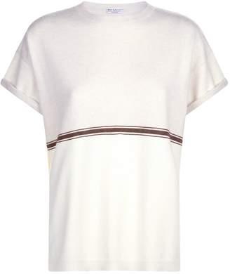 Brunello Cucinelli Monili Chain Trim T-Shirt