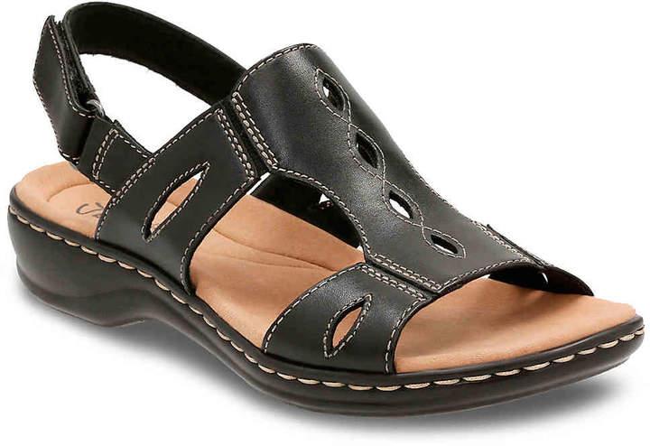 ClarksWomen's Leisa Lakelyn Wedge Sandal -Black