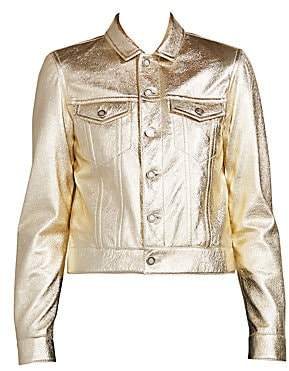 Saint Laurent Women's Metallic Leather Jacket