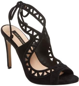 Ava & Aiden Women's Laser-Cut Suede Sandal