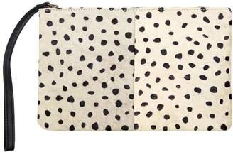 MAHI Leather - Classic Clutch Bag In Spotty Print Pony Fur