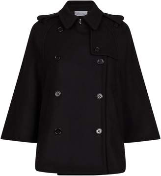 RED Valentino Double-Breasted Wool Cape