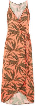 Vix Tropicus Grazi Printed Voile Maxi Dress - Coral