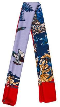 Hermes Jungle Love Silk & Cashmere Shawl