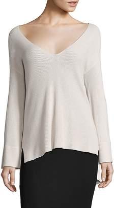 ATM Anthony Thomas Melillo Women's V-Neck Hi-Lo Sweater
