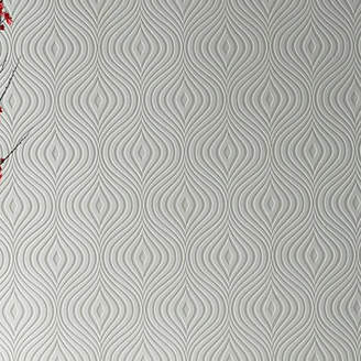 Graham & Brown Paintable Curvy 33' x 20 Geometric 3D Embossed Wallpaper Roll