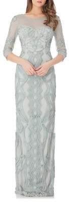 JS Collections Soutache Column Gown