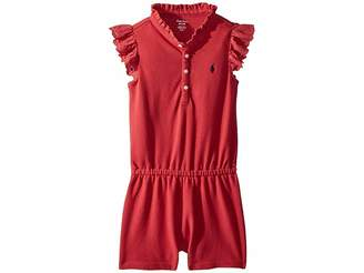 Ralph Lauren Cotton Flutter-Sleeve Romper (Infant)