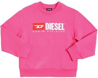 Diesel Flocked Logo Cotton Sweatshirt