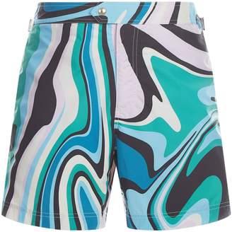 Tom Ford Marble Print Swim Shorts