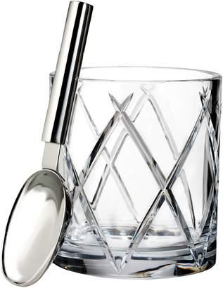 Waterford Olann Lead Crystal Ice Bucket & Scoop