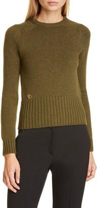 Michael Kors Logo Monogram Cashmere Sweater