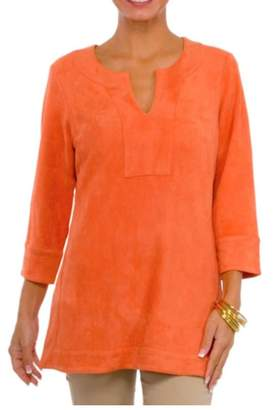 Gretchen Scott Suede Tunic Top