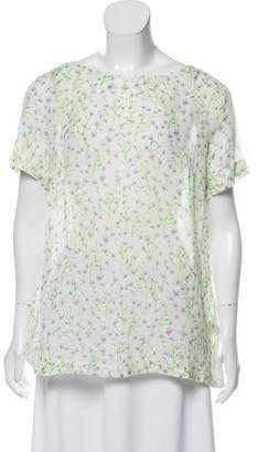 Massimo Alba Semi-Sheer Floral Top w/ Tags