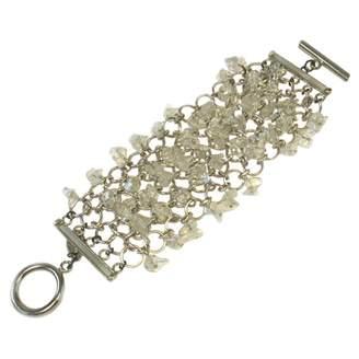 Paco Rabanne White Metal Bracelets
