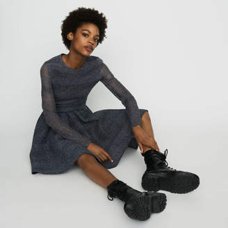 Maje Skater dress in basketweave knit