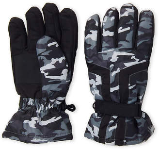 Concept One (Boys 4-7) Grey Camouflage Waterproof Gloves