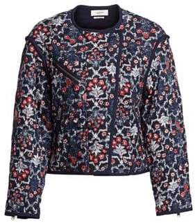 Etoile Isabel Marant Manae Floral Quilted Linen Jacket