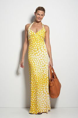 Jocelyn Dress in Graphic Palm Green or Square Dot Yellow