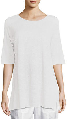 Eileen Fisher Half-Sleeve Linen-Blend Tunic, Plus Size $178 thestylecure.com