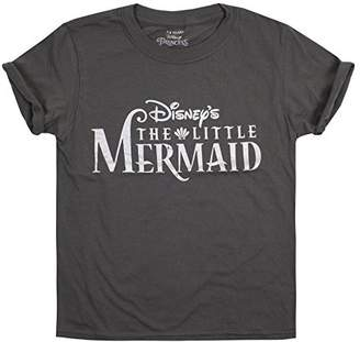 Disney Girl's The Little Mermais Logo T-Shirt