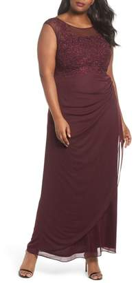 Decode 1.8 Embellished Ruched Jersey Gown