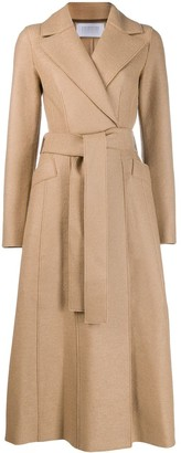 Harris Wharf London belted long-length coat