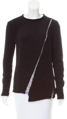 Tess Giberson Asymmetrical Crew Neck Sweater