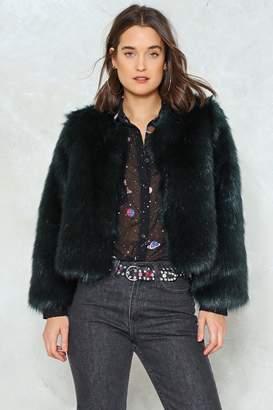Nasty Gal Time Waits Fur No One Faux Fur Jacket
