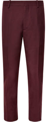 Alexander McQueen Slim-Fit Cropped Wool-Twill Trousers