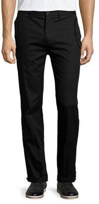 Helmut Lang Flap-Pocket Straight-Leg Trouser Pants, Black $380 thestylecure.com