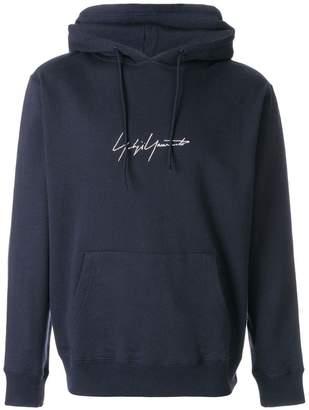 Yohji Yamamoto logo print hoodie