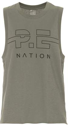 P.E Nation Spike cotton tank top