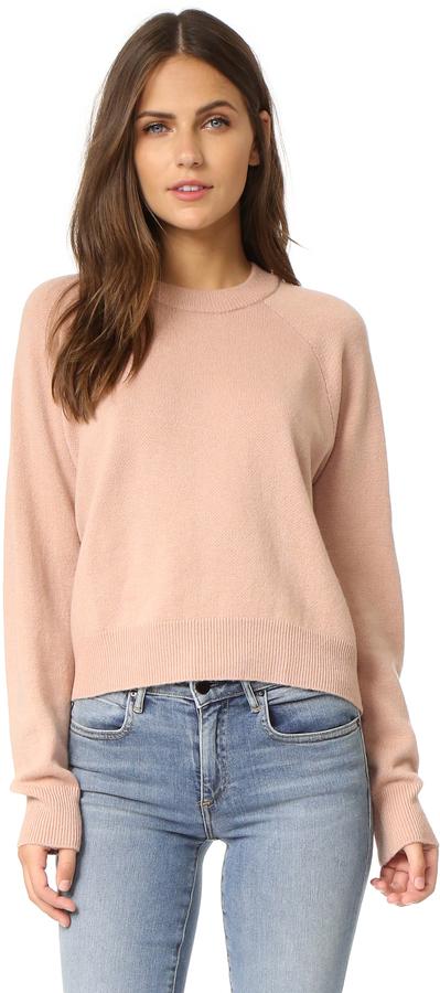 T by Alexander Wang Crop Crew Neck Sweater