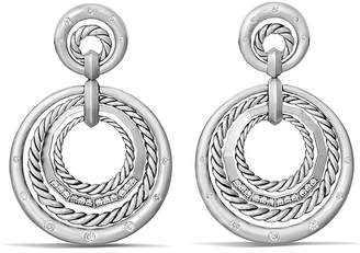 David Yurman Stax Drop Earrings with Diamonds