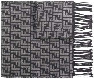 Fendi FF logo embroidered scarf