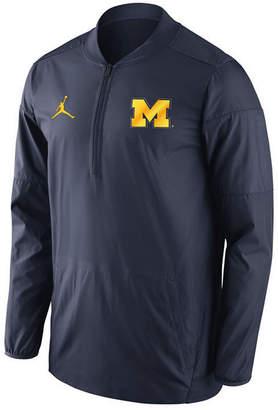 Nike Men Michigan Wolverines Lockdown Quarter-Zip Pullover