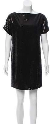 Robert Rodriguez Short Sleeve Sequin Mini Dress