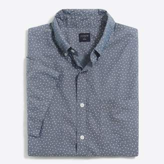 J.Crew Factory Slim short-sleeve printed chambray shirt