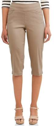 Time and Tru Women's Essential Pull-On Capri Pant