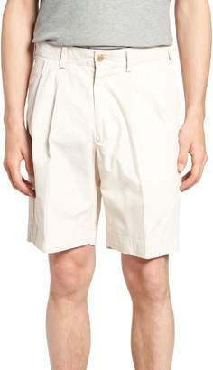 Bills Khakis Classic Fit Pleated Tropical Poplin Shorts