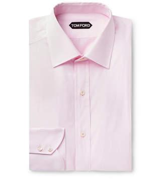 Tom Ford Light-Pink Slim-Fit Cotton-Poplin Shirt