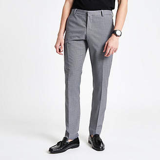 River Island Selected Homme grey slim fit suit trousers