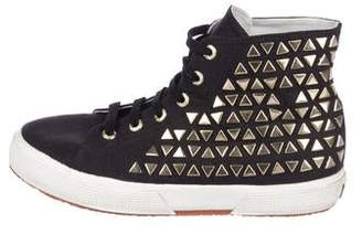 Superga Studded High-Top Sneakers