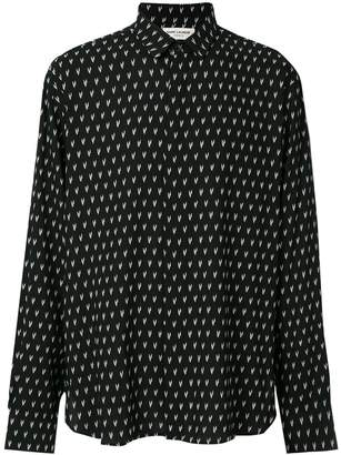 Saint Laurent Ikat print shirt