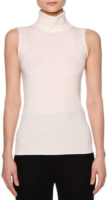 Callens Multi-Rib Sleeveless Turtleneck Sweater