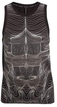BLACKBARRETT by NEIL BARRETT Topography Body Print Cotton Jersey Tank Top - Mens - Black White