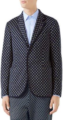 Gucci Men's Interlocking Logo Two-Button Jacket