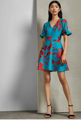 Ted Baker Printed Floral Dress